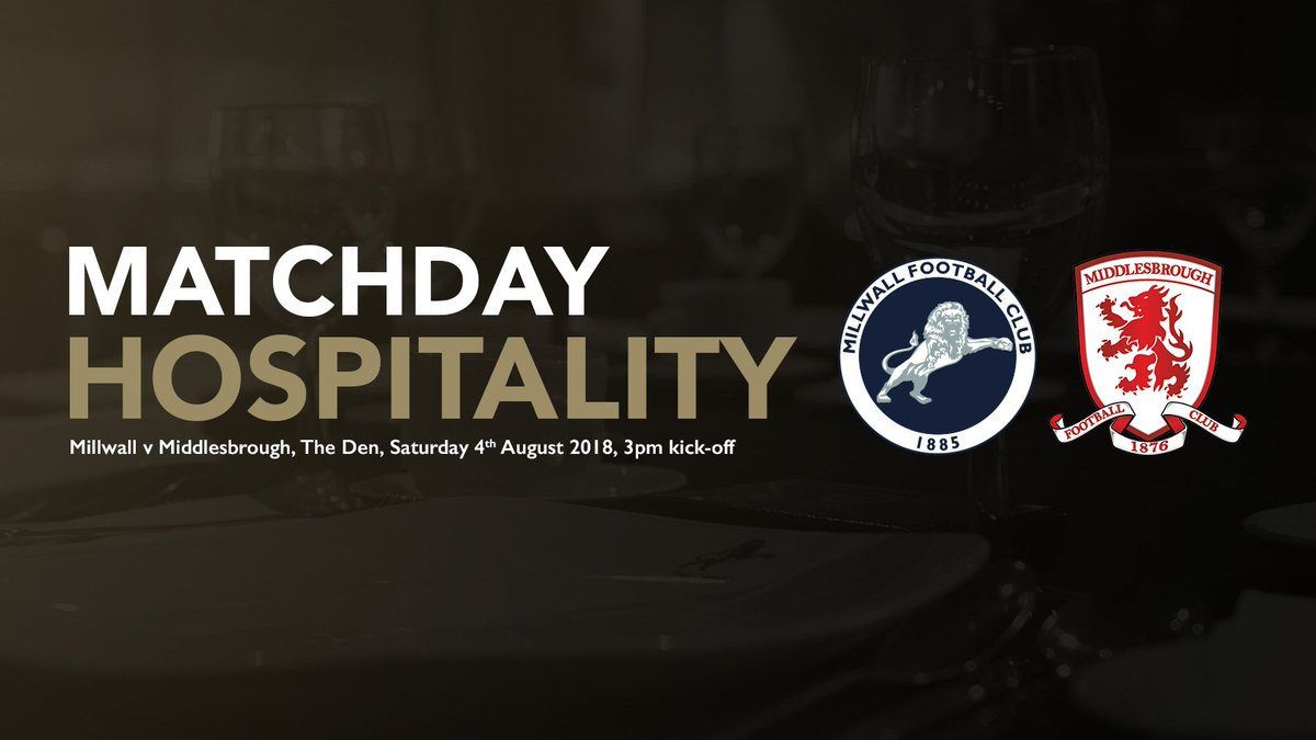 🍽 #Millwall will celebrate 25 years at The Den when @Boro visit on the @SkyBetChamp opening day - and what better way to mark the special occasion than with matchday hospitality? ➡️ bit.ly/2usTszR