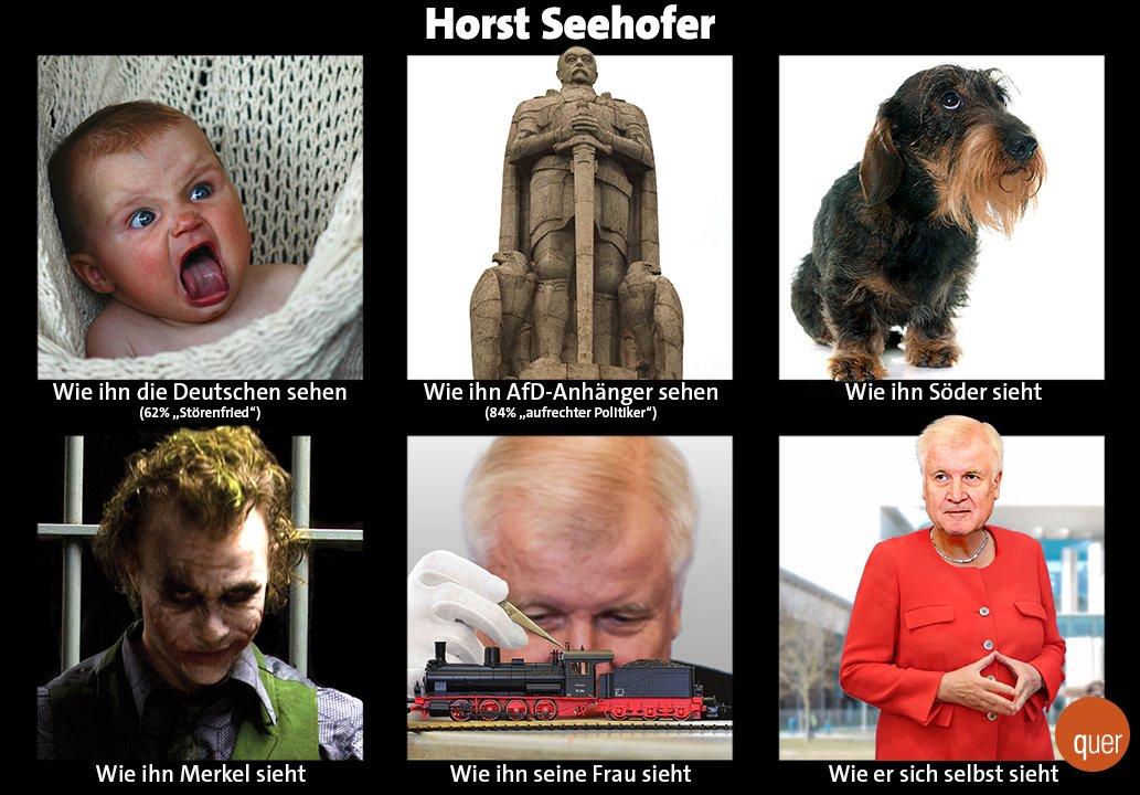 Laut Forsa-Umfrage halten bundesweit 2/3 der Bürger Horst #Seehofer für nicht mehr tragbar als #Innenminister. Selbst die Mehrheit der CSU-Wähler wollen ihn nicht mehr als Innenminister. Nur die AfD-Fans lieben ihn – und er sich selbst natürlich auch. https://t.co/QgNV7PuDuz