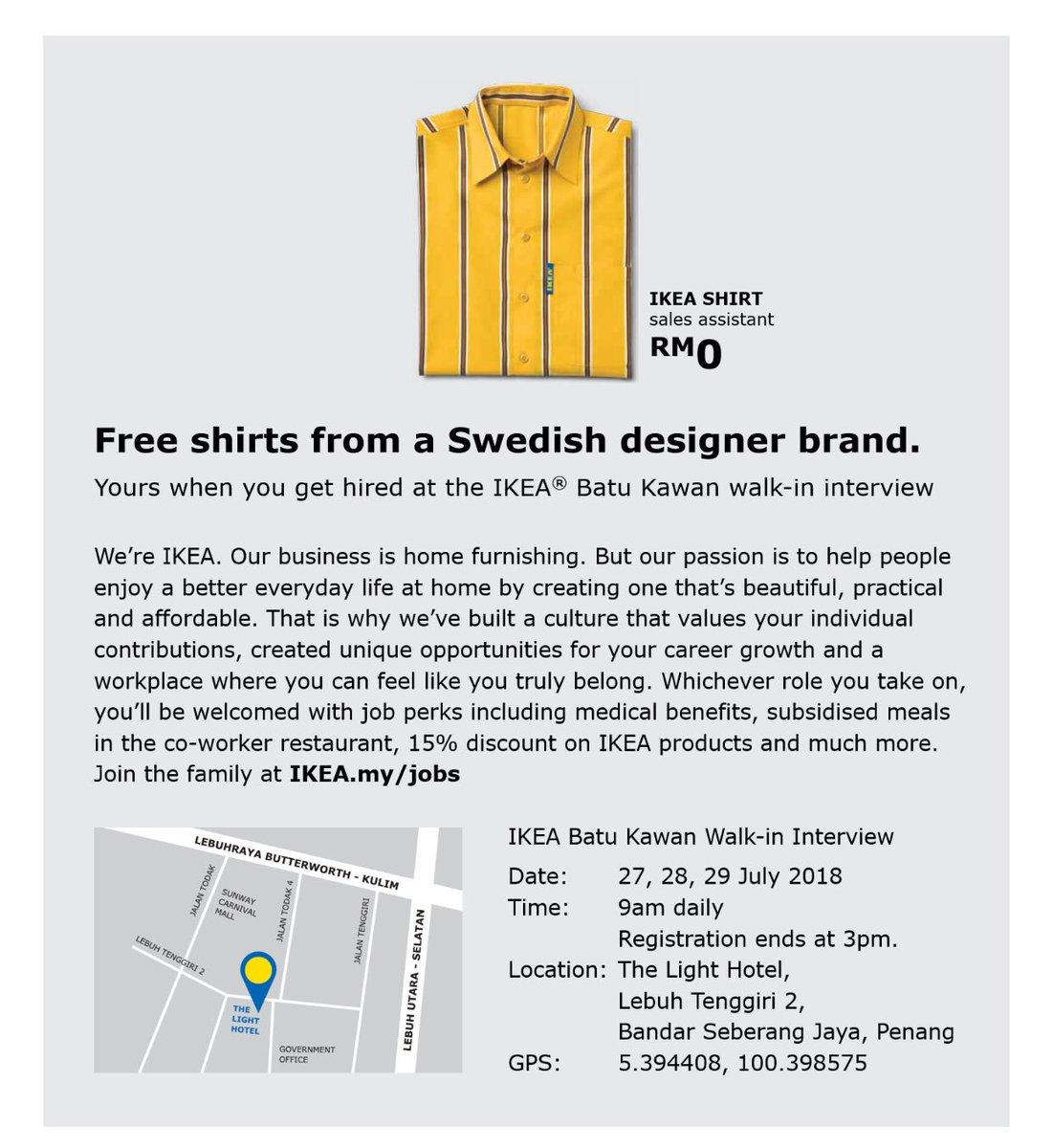 Temuduga Terbuka Ikea Batu Kawan Mereka Yang Berminat Boleh Hadir