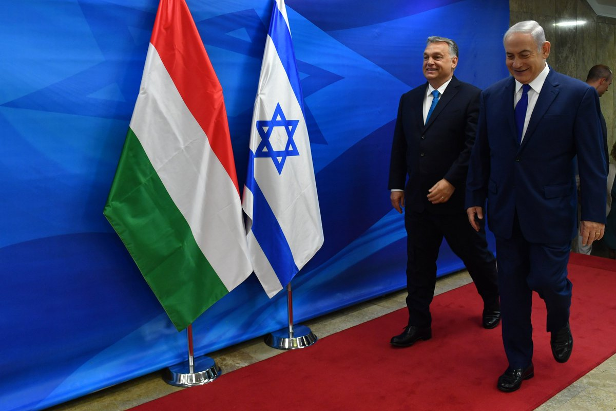 PM Netanyahu to Hungarian PM Orbán: 'want to thank you for defending Israel. You have stood up for Israel time and time again in international forums. It is deeply appreciated and it is important. Hungary has led the charge many, many times and I thank you for it.'