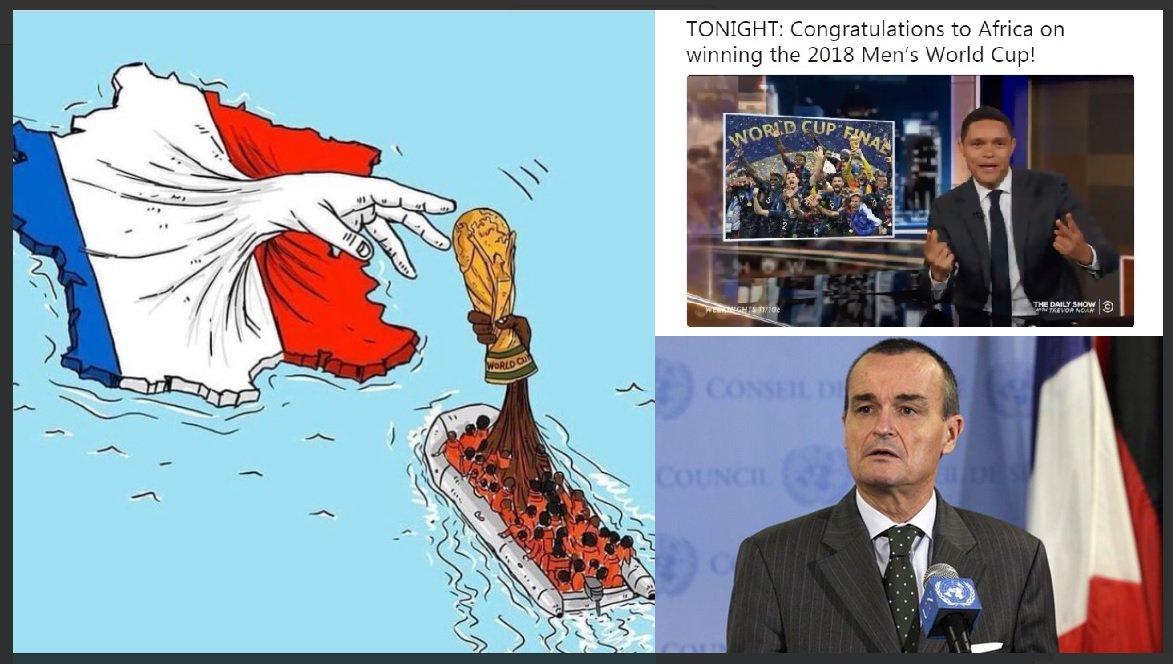 """Il comico accusa: """"Il Mondiale? L'ha vinto l'Africa"""". La risposta: """"Sono francesi solo i bianchi?"""" - https://t.co/Nq3CobMAlb #blogsicilianotizie #todaysport"""