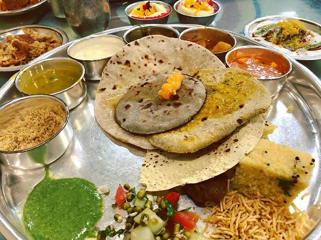 test Twitter Media - Rajwada Thali! Grand dinner, so much option, unlimited refill! I am too full in this vegetarian food! Really loved it! And very cheap if you ask me, only 240 INR per person!  #travelawesome #travelpics #travelphotography #travelphoto #travisscott #foodie… https://t.co/TSegOgwHw6 https://t.co/HcsskQd2GN