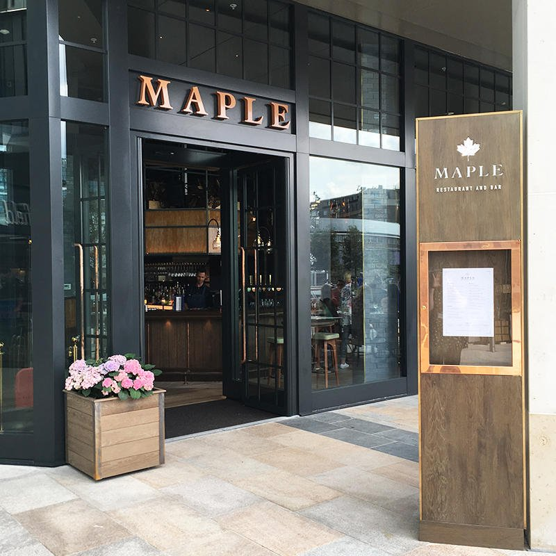 With all-day dining, botanical cocktails, craft beers and more, Maple bar and restaurant is now open! Located on Westfield Square, by the entrance to John Lewis.