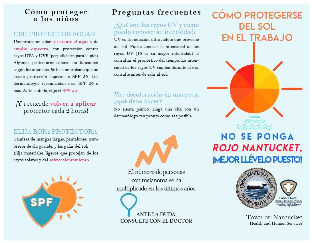 7e09f07116 Mira a nuestros folletos para aprender como protegerse del sol, y como  prevenir el cáncer del piel!pic.twitter.com/fwb0THy63A