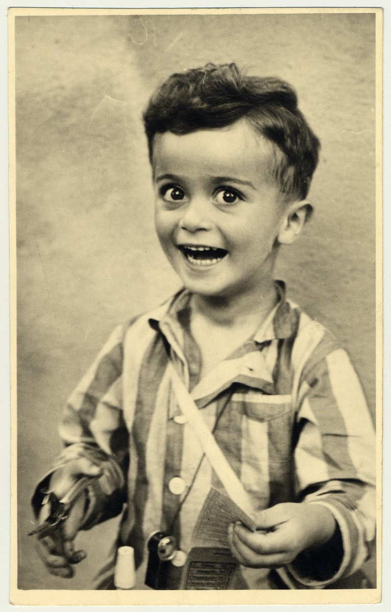 Portrait of Istvan Reiner, taken shortly before he was killed in Auschwitz. He was four years old.
