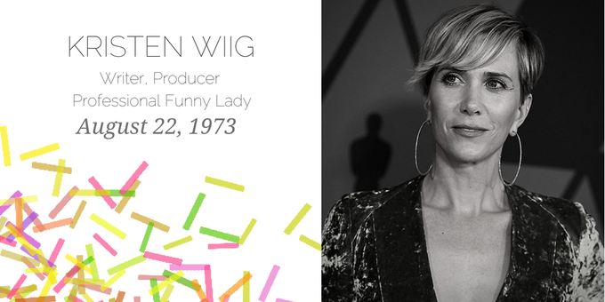 Happy Birthday to Kristen Wiig, America\s favorite awkward aunt.
