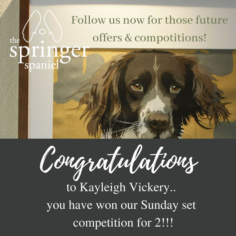 Springer spaniel pub on twitter congratulations to kayleigh on all those promos offers and give aways that are just around the corner compotitionwinner winner pubfood giveaway freebie lucky pickofthedraw thecheapjerseys Gallery