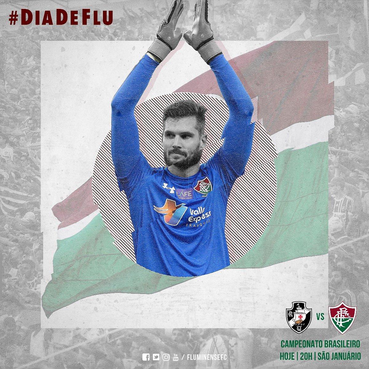 Hoje é #DiaDeFlu e nada mais importa. Vamos, Fluzão! #VASxFLU