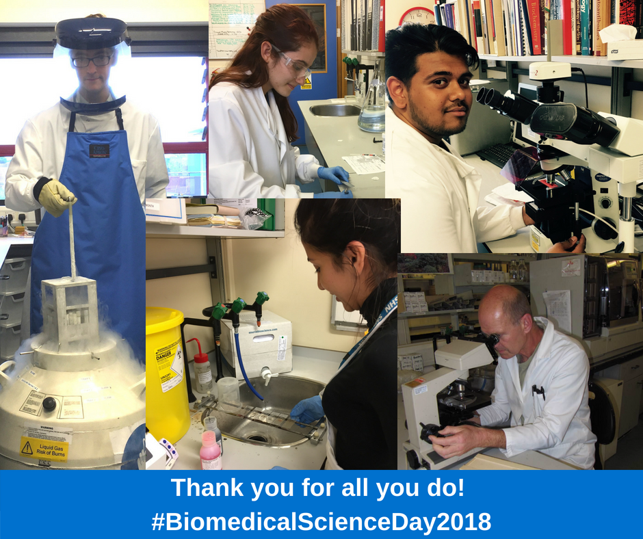 It&#39;s #BiomedicalScienceDay2018 and we&#39;re acknowledging all our fab biomedical science staff. Thanks for all that you do, you&#39;re an asset to the Trust and valued members of #TeamRBCH! <br>http://pic.twitter.com/6CfTtWA0wE