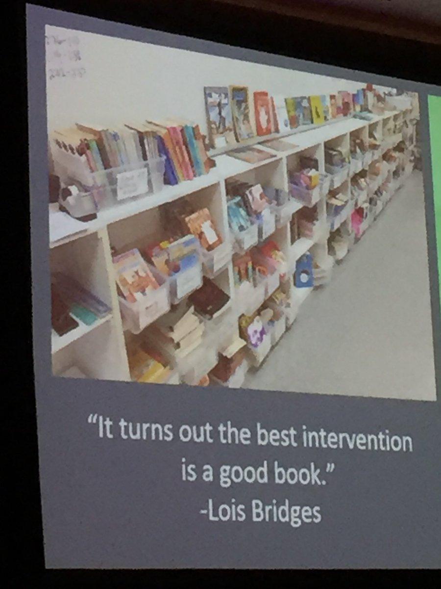 @AnnieTWard sharing the power of books &amp; the best intervention #ReadingSummit @MrSchuReads<br>http://pic.twitter.com/2iSQ98qwJz