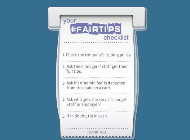 Heading out for dinner tonight? Take our #FairTips checklist, tip staff & demand an end to the wait for #FairTips – staff have been waiting a total of 752 DAYS for the government to act - Demand #FairTips unitetheunion.org/fairtips