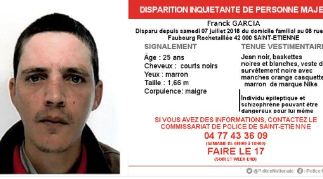 🔴 Un appel à témoins lancé pour retrouver un jeune homme schizophrène et épileptique dans le secteur de Saint-Etienne https://t.co/U9tnPbxRcM