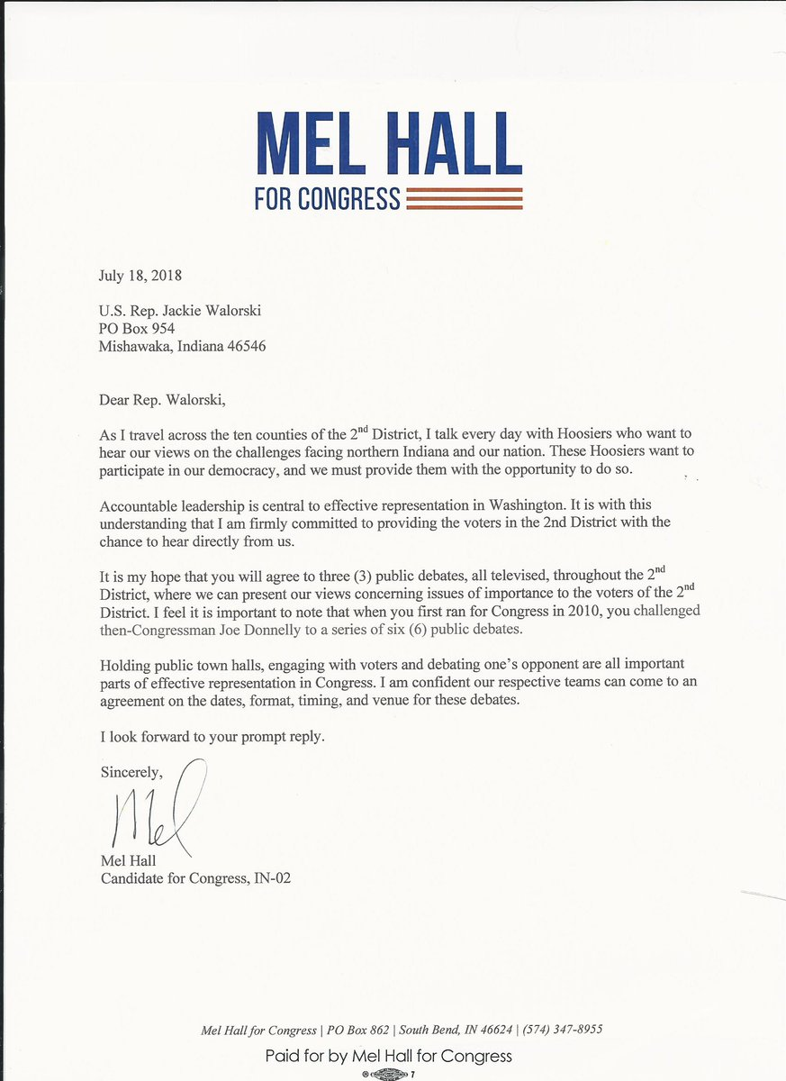 Mel Hall On Twitter Hoosiers Deserve To Hear From Their Candidates