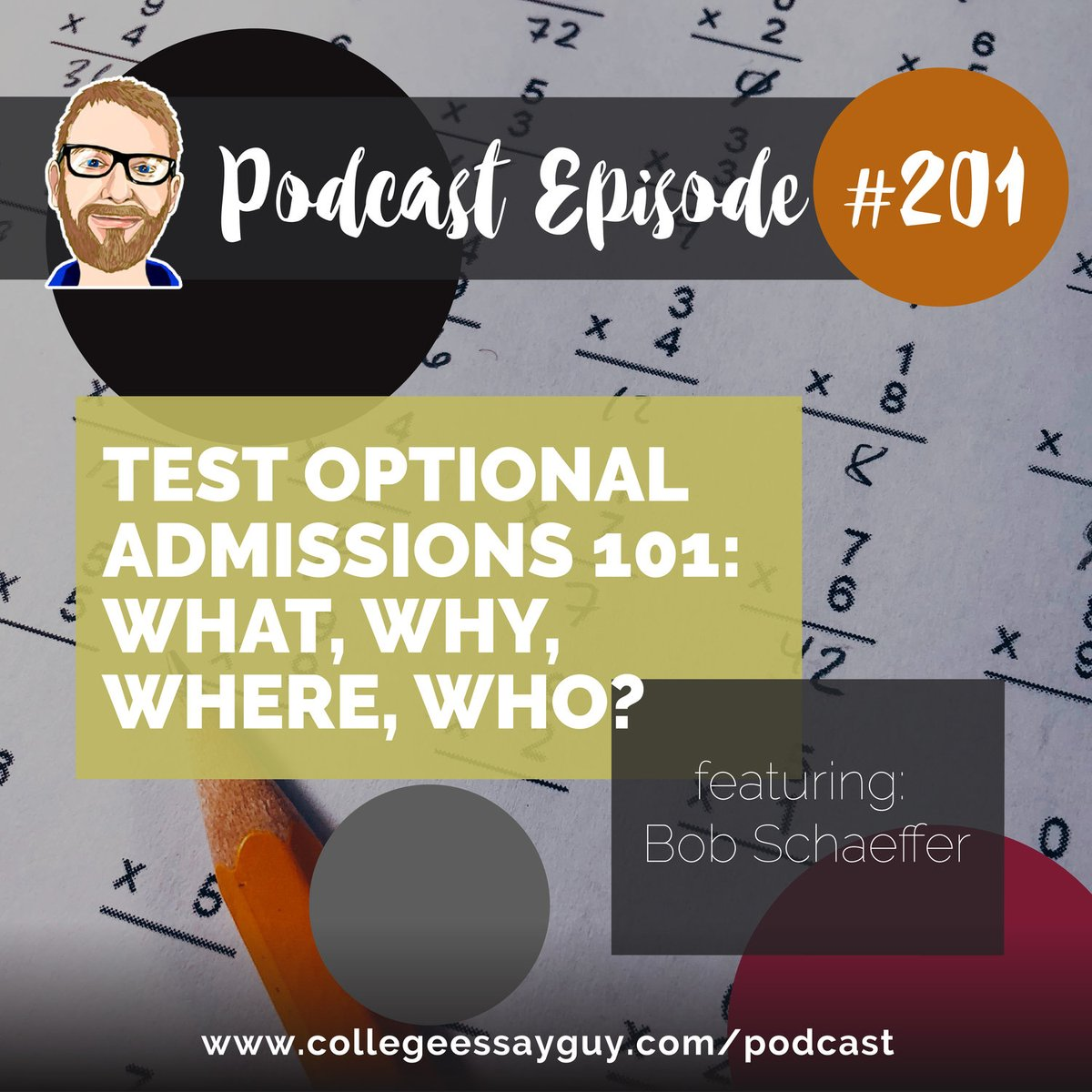 I sit down with Bob Schaeffer, Public Education Director of FairTest, a non-profit that advocates for better forms of student assessment. Bob's got a list of test-optional schools that he updates regularly, which I'll let him tell you about. 🎧 Listen: goo.gl/sQE1zF