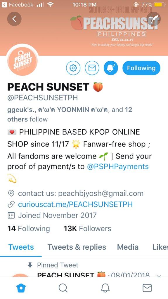 PEACH SUNSET 🍑 on Twitter:
