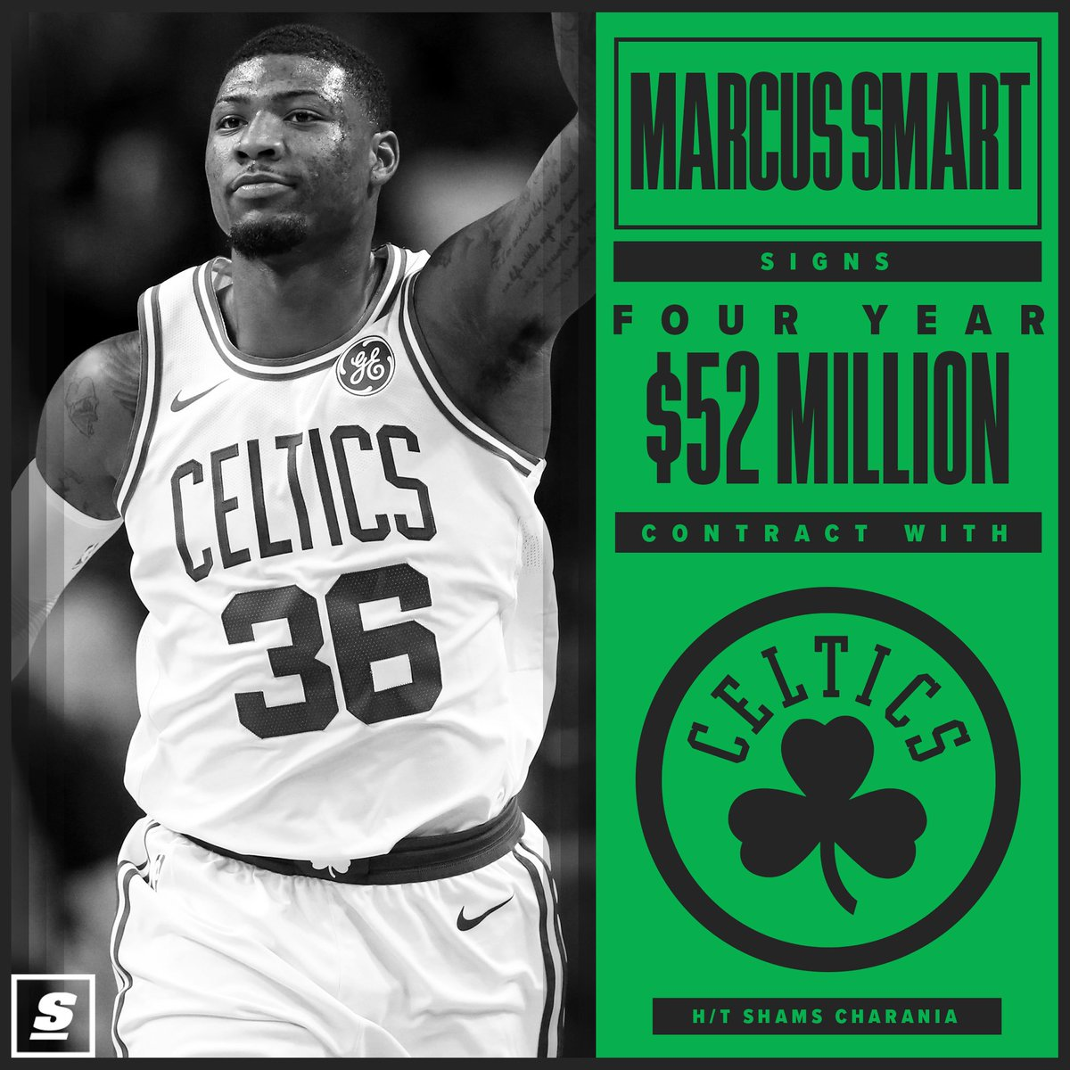 The Celtics bring back Marcus Smart. ☘️🏀