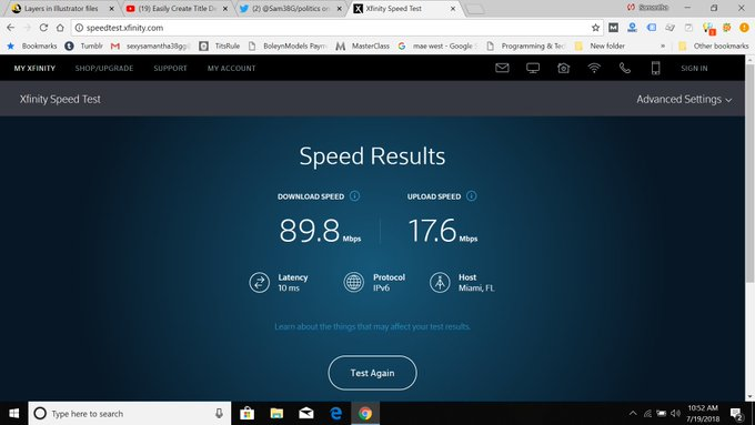 1 pic. OMG we have Speed..............  This is without ethernet & with it. https://t.co/5TcOQyOE1y