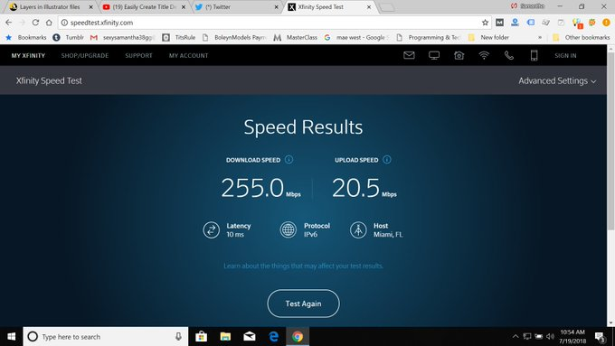 2 pic. OMG we have Speed..............  This is without ethernet & with it. https://t.co/5TcOQyOE1y
