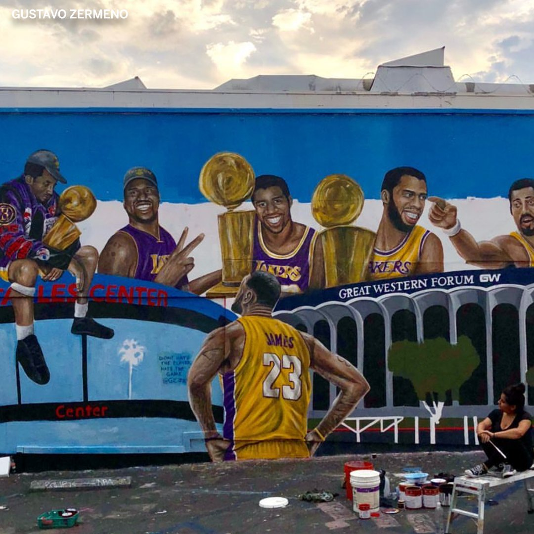 There's a new Lakers mural in LA and it's 🔥