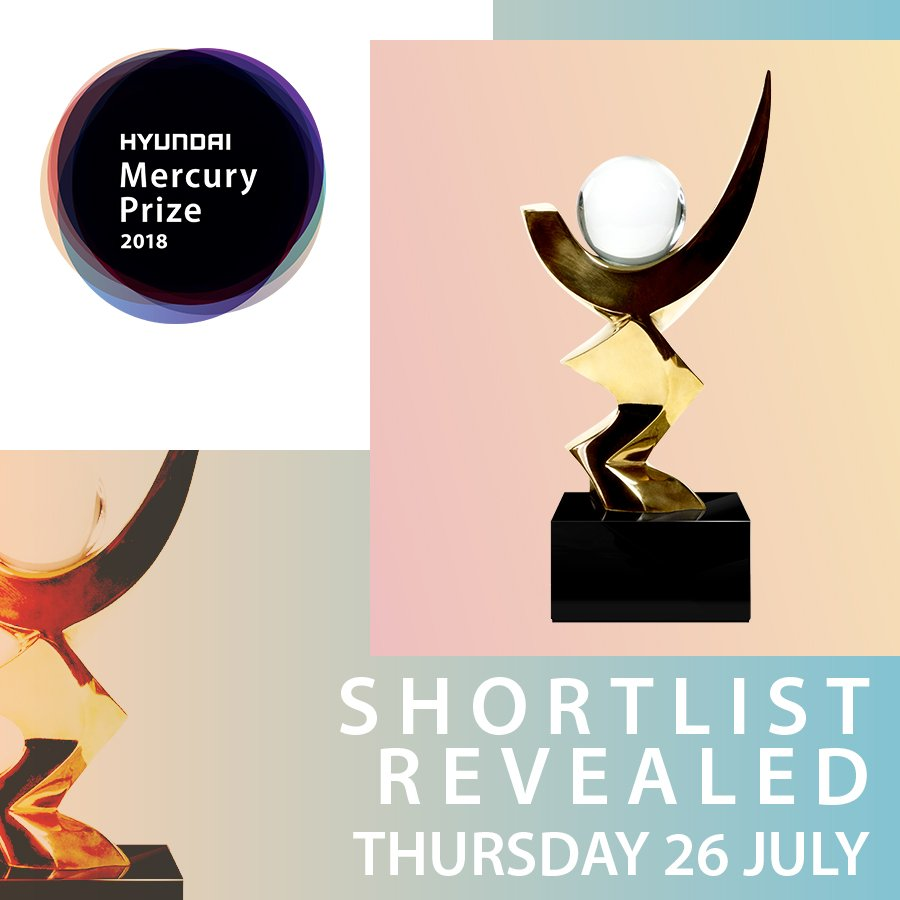 This time next week well know the 12 artists who have been shortlisted for The 2018 @HyundaiUK Mercury Prize! Which albums are you expecting to make the list? #MercuryPrize #HyundaiMercuryPrize