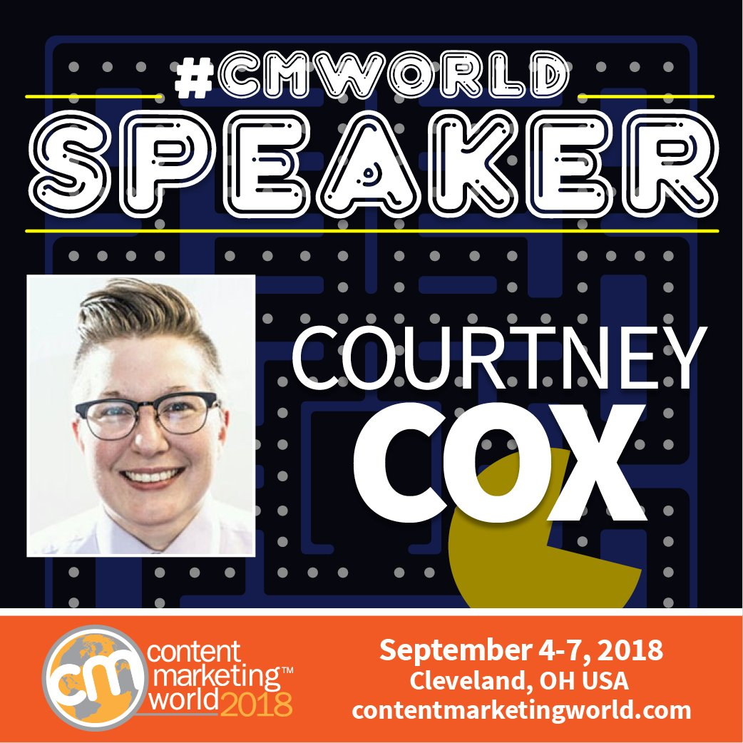 Image result for content marketing world 2018 Courtney Cox