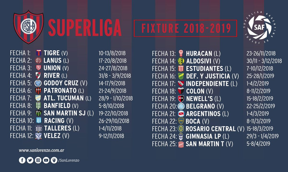 Fixture superliga