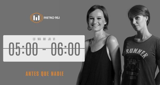 #BuenViernes 🆙 Desde bien temprano @FlorHalfon y @OliSohr están del otro lado para acompañarte en tu mañana 😎 Prendete a #AntesQueNadie: Foto