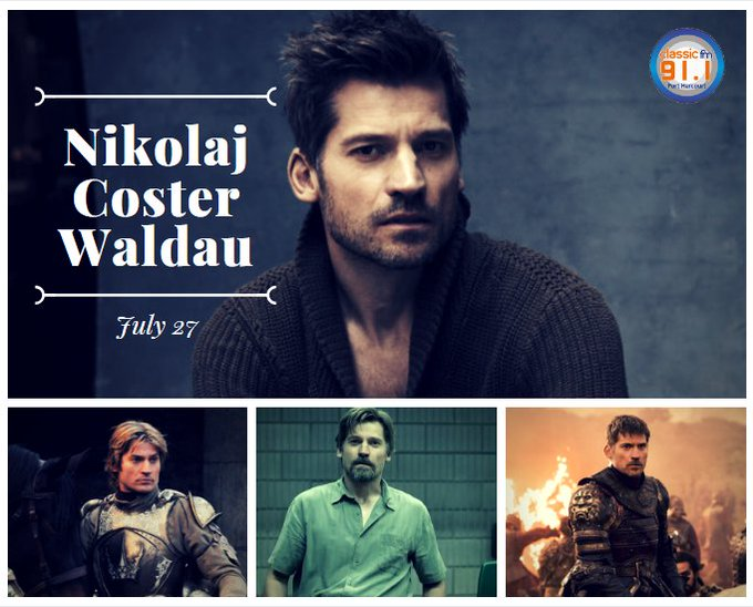 "Happy birthday to actor Nikolaj Coster-Waldau, who plays \Jamie Lannister\ on HBO\s ""Game of Thrones.\"""