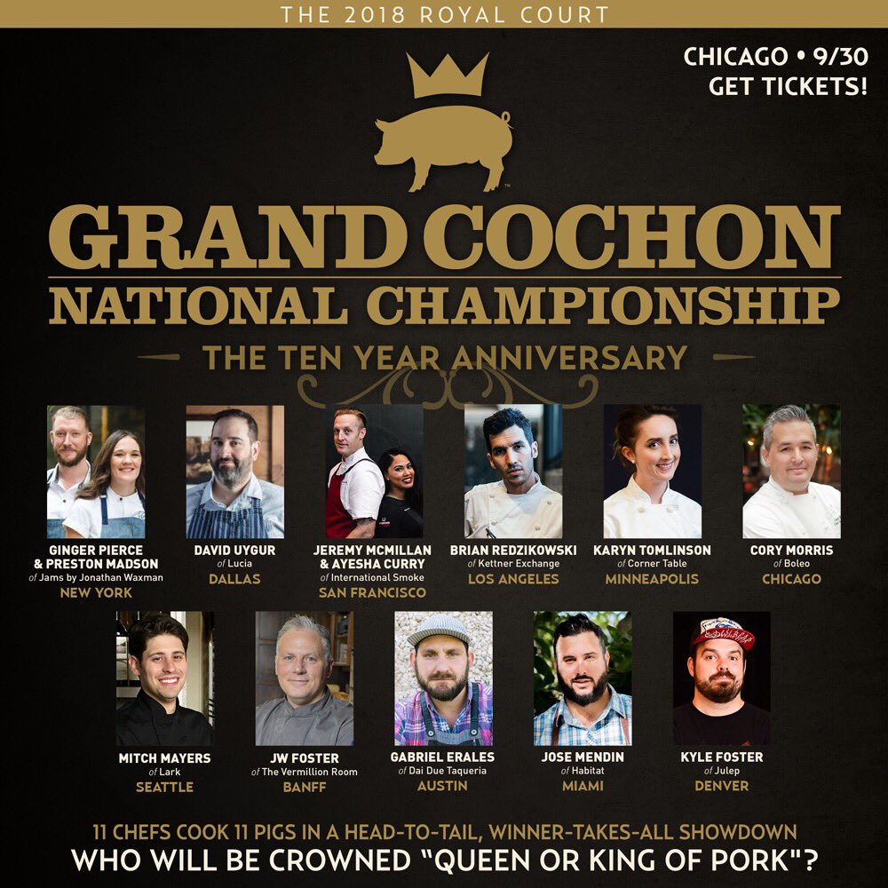 #SaveTheDate and join us at the tournament of #Champions! The #RoyalCourt of #Pork gathers in Chicago to crown the North American #King OR #Queen 👑 of #Pig 🐷 this September!! Don't get shut out... grab your TICKETS now —> https://t.co/oYMHJ6cjuA