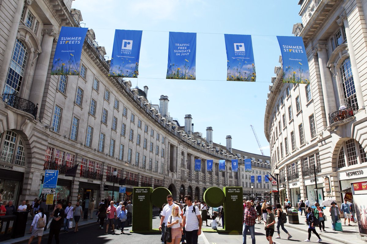 Dont miss the last Summer Streets at @RegentStreetW1 this Sunday, packed with brass bands, food markets and fitness workshops! ☀️🎺🍦 goo.gl/ULyHCY