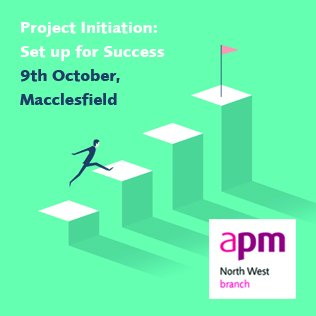 Early booking discount deadline is end July.  Don't miss the APM north west conference: Project Initiation: set up for success, 9 October, Macclesfield http://bit.ly/projectinitiation … #apmweb @APMProjectMgmt @APMCumbriaGroup #pmot @APMNWBranch
