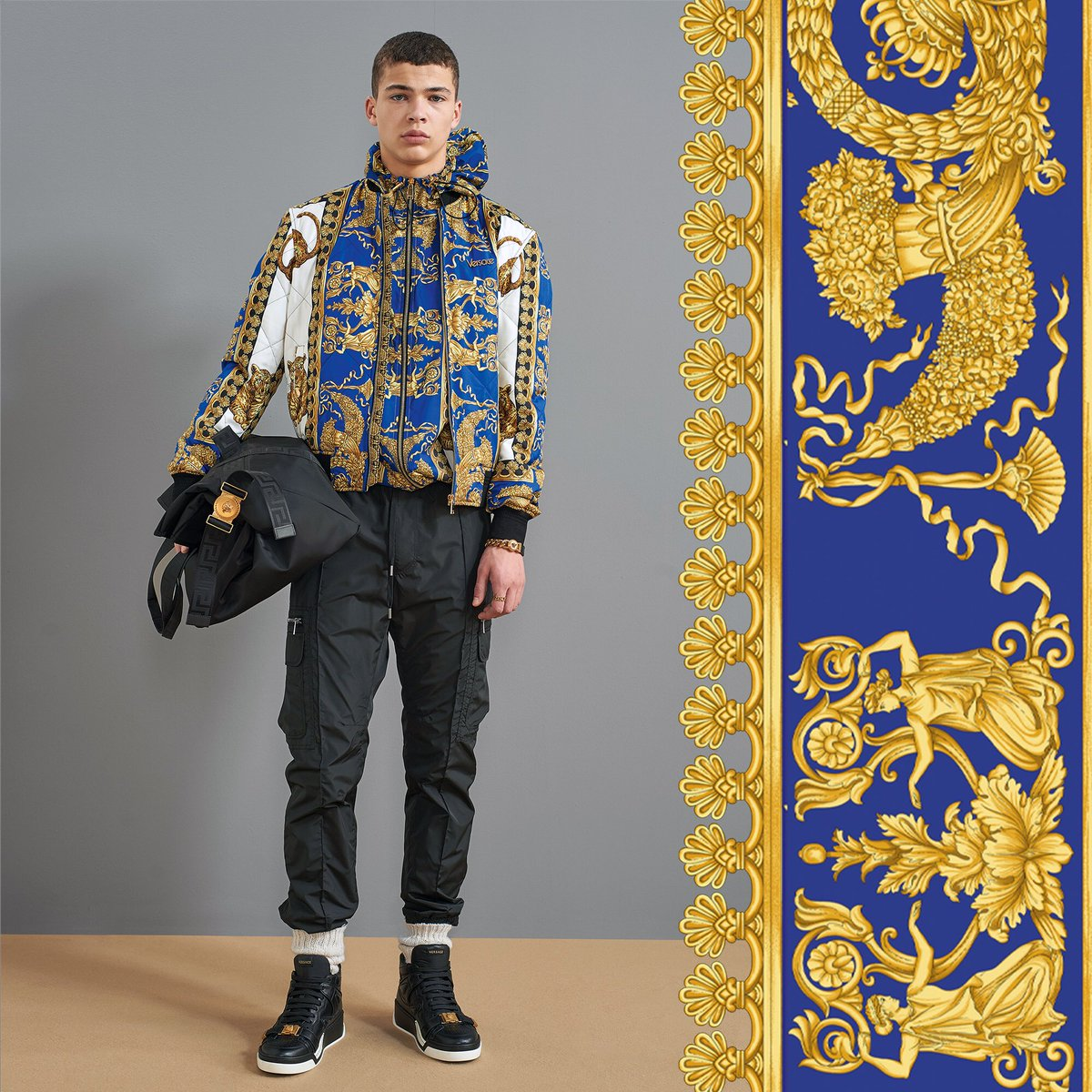 Loco for Barocco - the Signature Dea print features the most iconic Versace motifs.  Find the #VersacePreFall18 men's collection now: https://t.co/NoSI7cBtKP