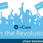 Image for the Tweet beginning: vCom is revolutionizing the way