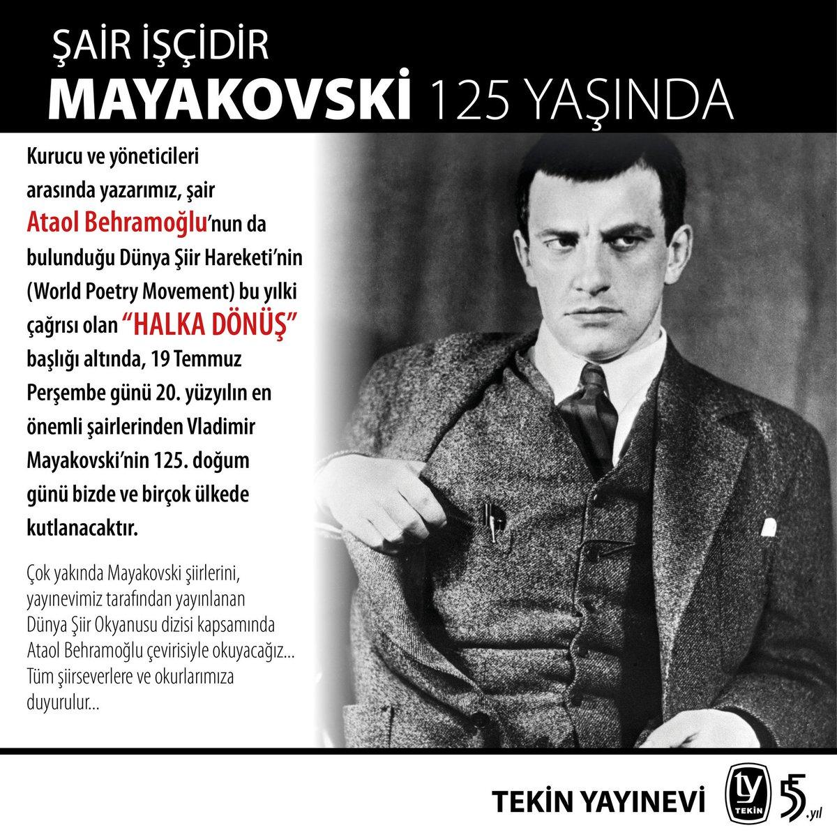 Tekin Yayınevi On Twitter Mayakovski 125 Yaşında şiirleri çok
