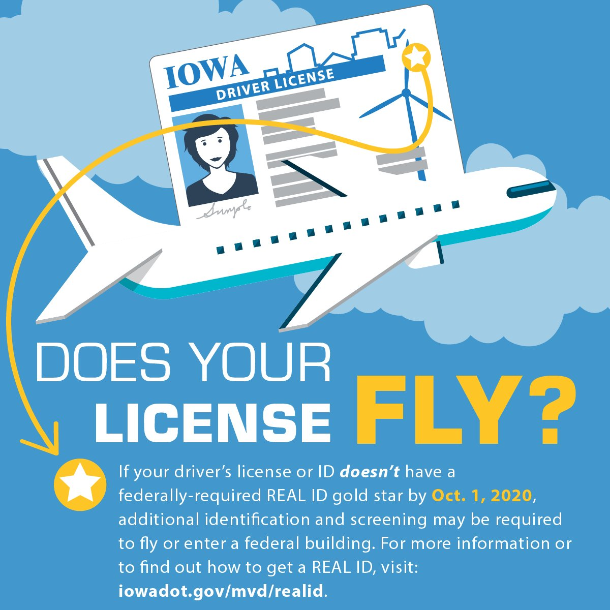 drivers license iowa gold star