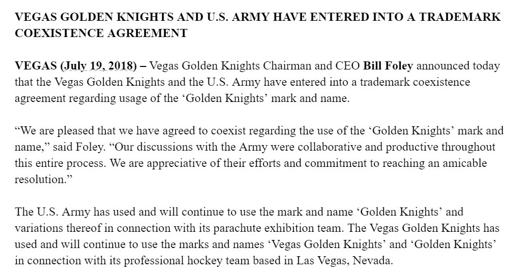 Sheng Peng On Twitter Vgk Us Army Have Come To Agreement