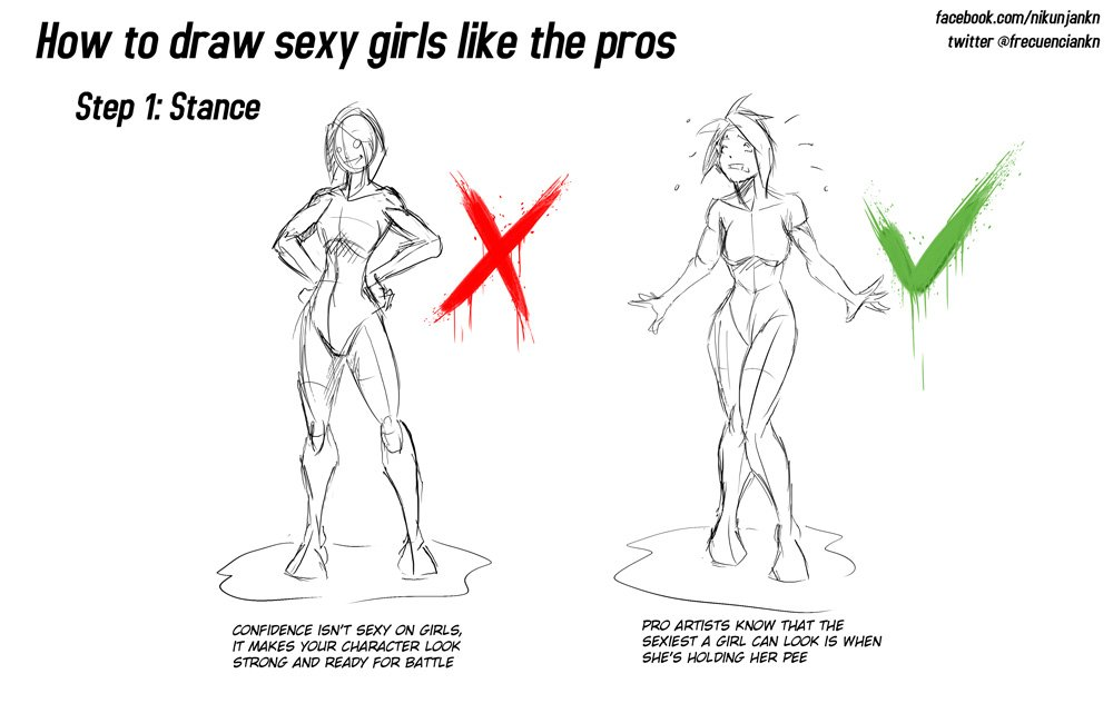 How to draw sexy girl