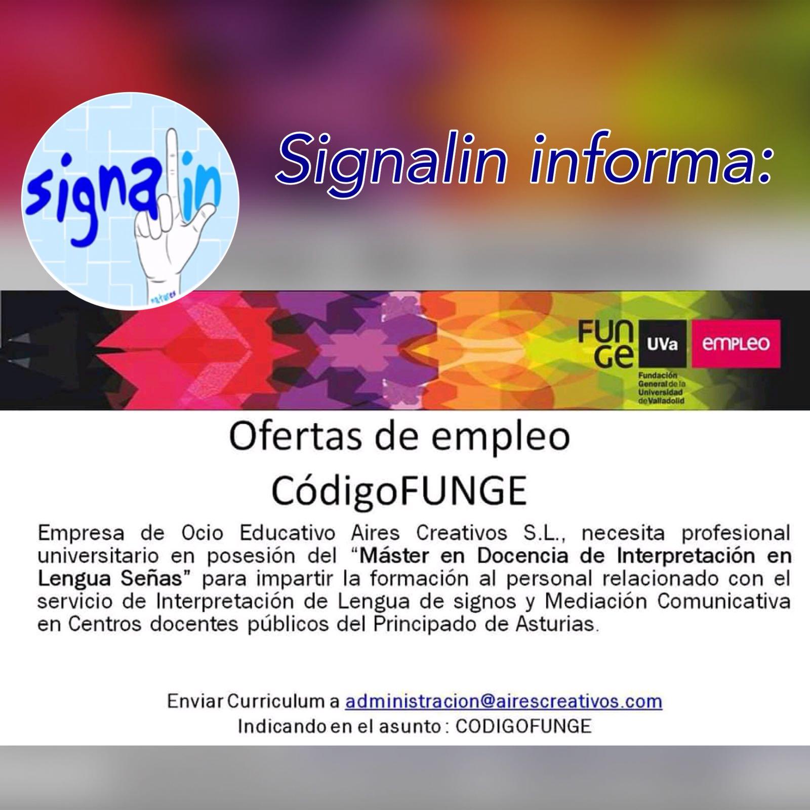 Buscan profesional con Master en Docencia de Interpretación en Lengua de Señas - Asturias DifpbtdXkAA5Xn5