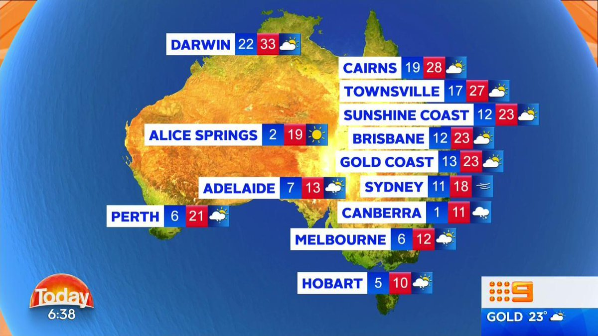 9 News Weather Map.Weather Here Is The Forecast For Around Beautiful Australia On Your