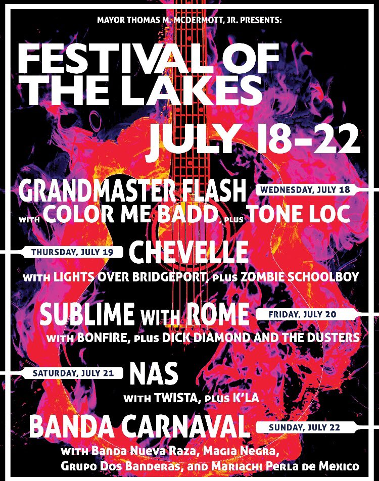 FREE CHEVELLE SHOW TODAY! Head to Festival of the Lakes in Hammond IN, ONLY 20 MINS from Chicago/60 MINS From Northern IL- CHEVELLE on stage around 9PM. @Festivalofthelakes