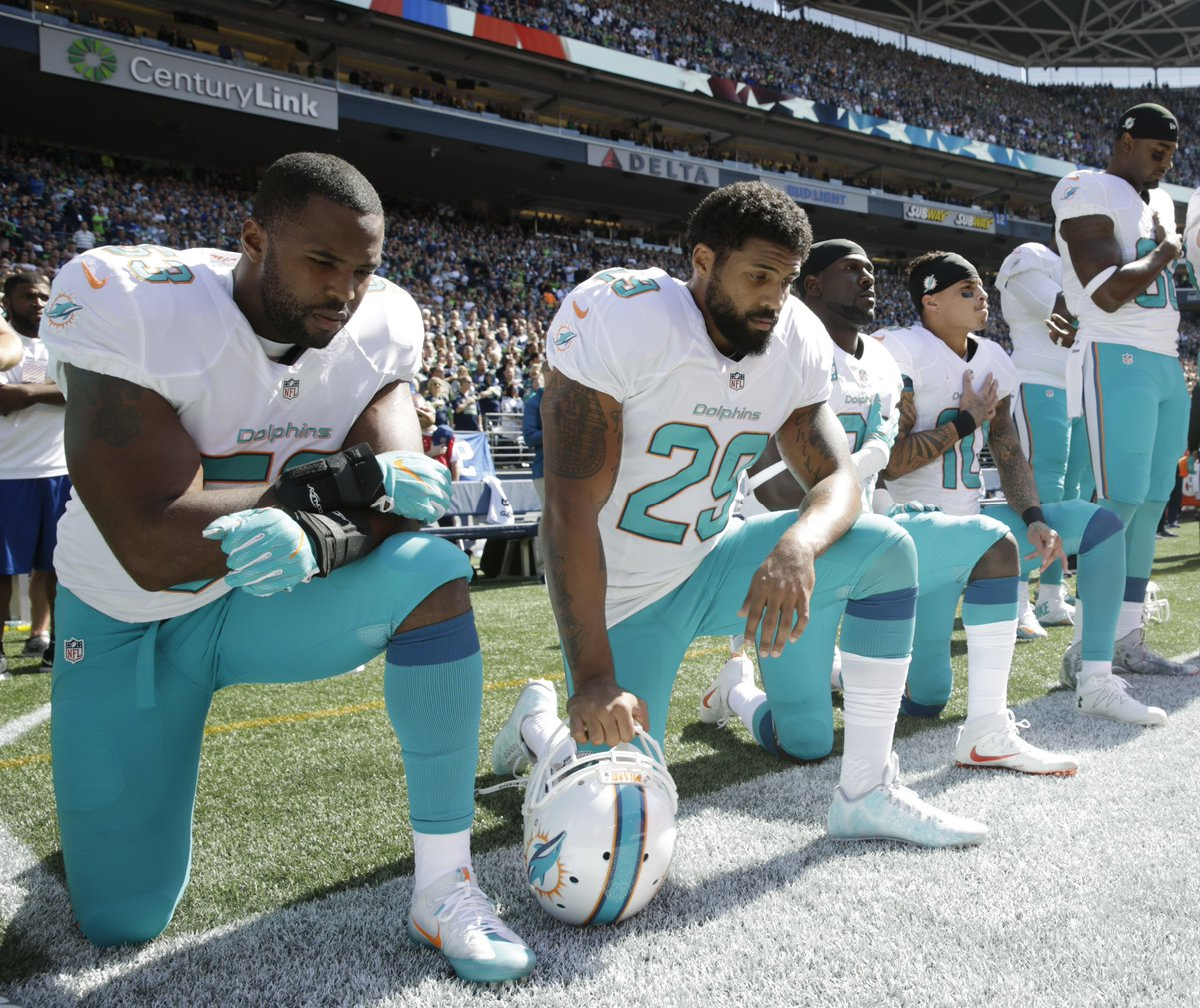 The Miami Dolphins say they will fine and/or suspend players who protest during the national anthem.