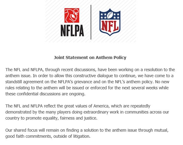 Jason Wilde On Twitter The Nfl And Nflpa Have Issued A Joint
