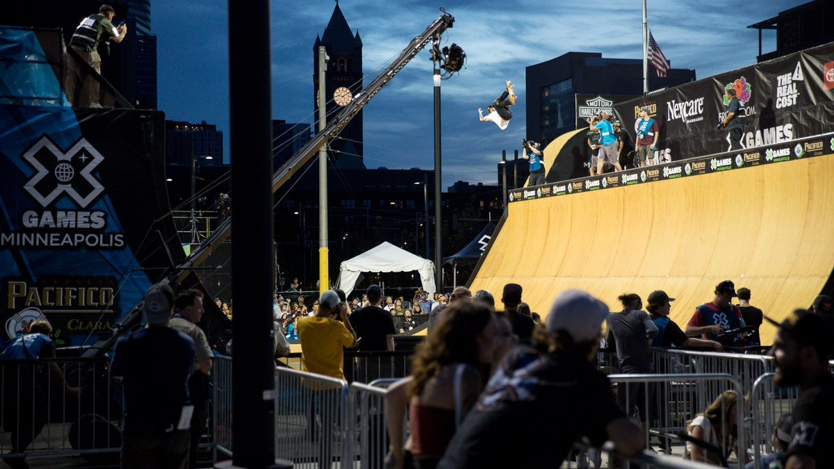 Skateboard Vert Final at #XGames Minneapolis 2018! 🕙: NOW 📺: https://t.co/9f1qpVCcwt