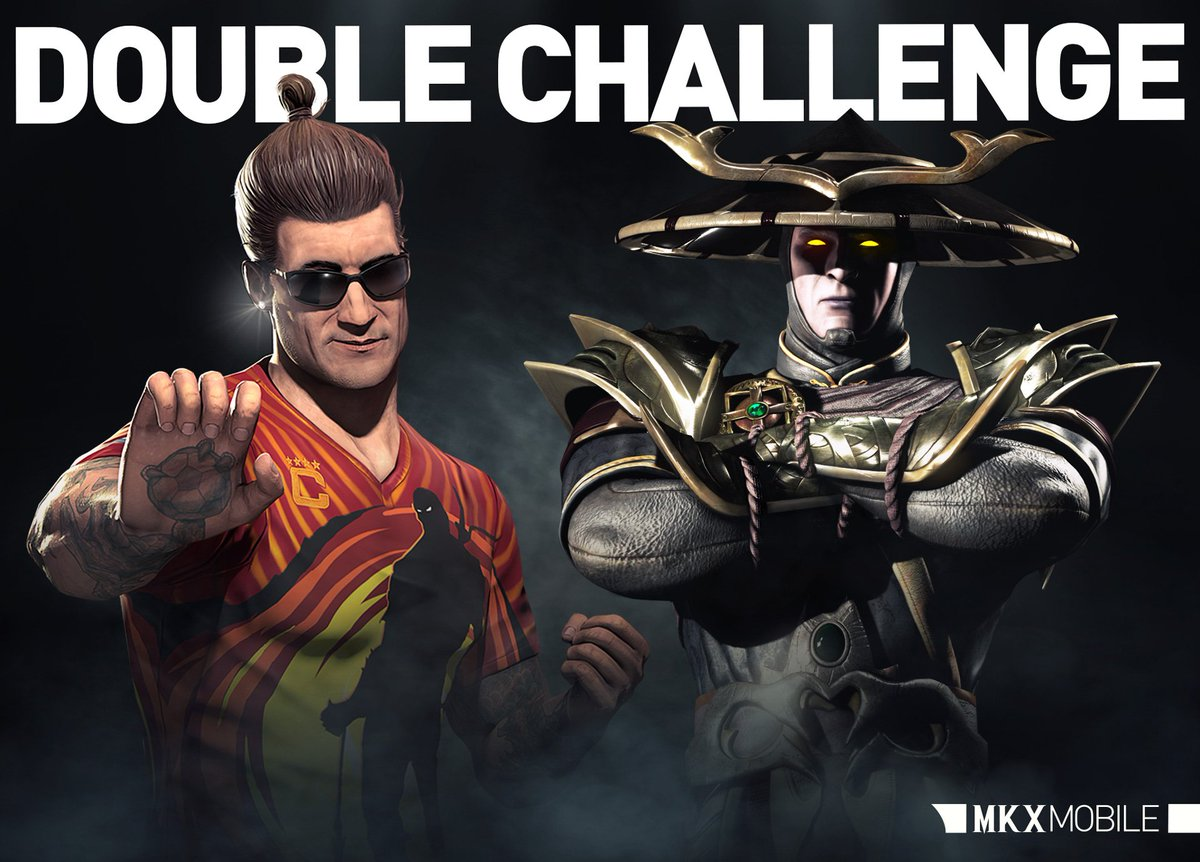 Another Double Challenge has begun in #MKXMobile! Complete Dark Raiden and #KombatCup Johnny Cage Challenges now!