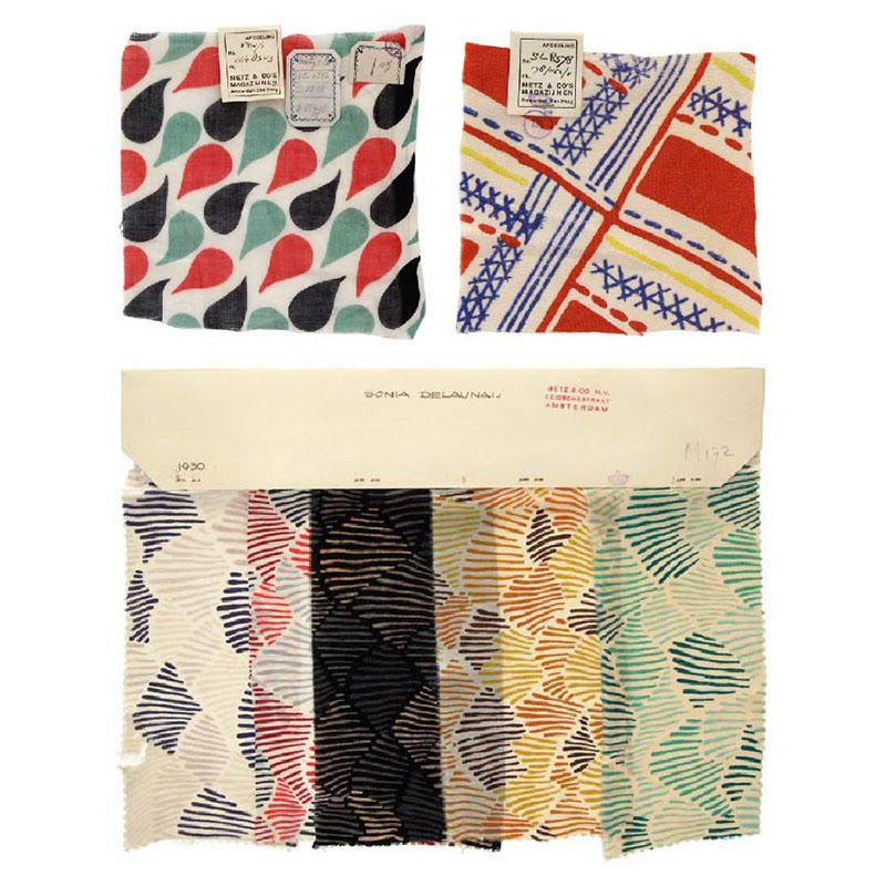 """Mahajan Home Ltd on Twitter: """"These fabric samples were designed by Sonia  Delaunay for Amsterdam-based department store Metz & Co. Delaunay was an  avant-garde artist and textile designer that created vivid abstract"""