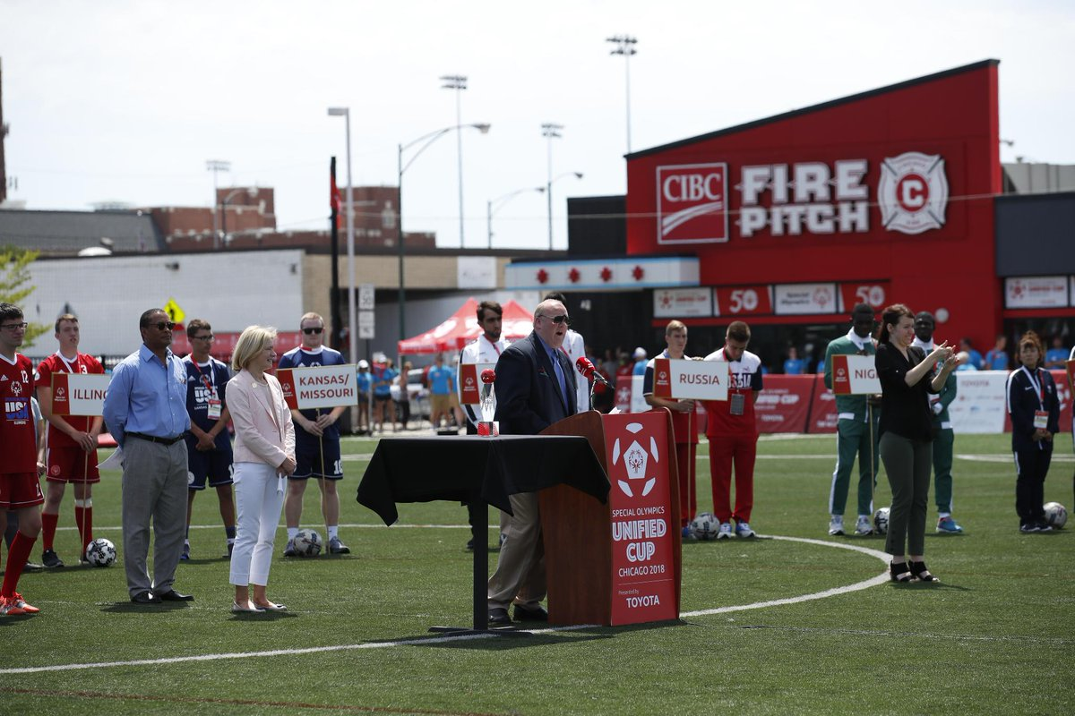 Our goals with Special Olympics at the Unified Cup and beyond are simple - create a society without discrimination through sports and a commitment to a sustainable society through mobility #StartYourImpossible #InclusionRevolution