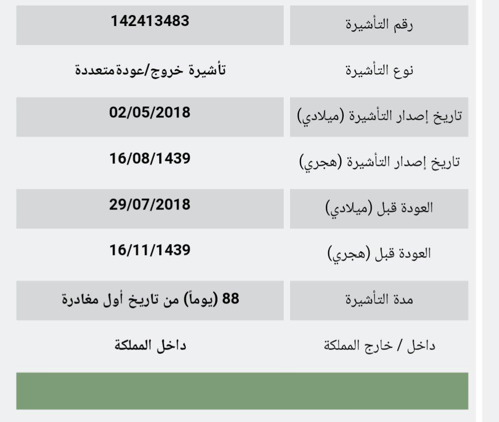 الجوازات ابشر Sur Twitter اصدار تأشيرة الخروج والعوده المتعدده من حسابك في ابشر Https T Co K3hcpk14ky