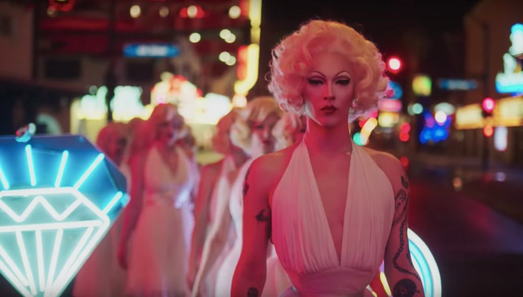 see violet chachki and sarah paulson as marilyn in prada's new film https://t.co/QrxqJqGW26