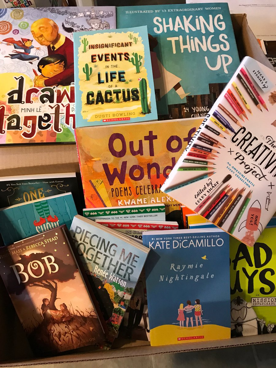 @Scholastic Not a bad haul from the #readingsummit Can&#39;t wait to share this box of amazingness with my students! <br>http://pic.twitter.com/jFF5tBJsK2