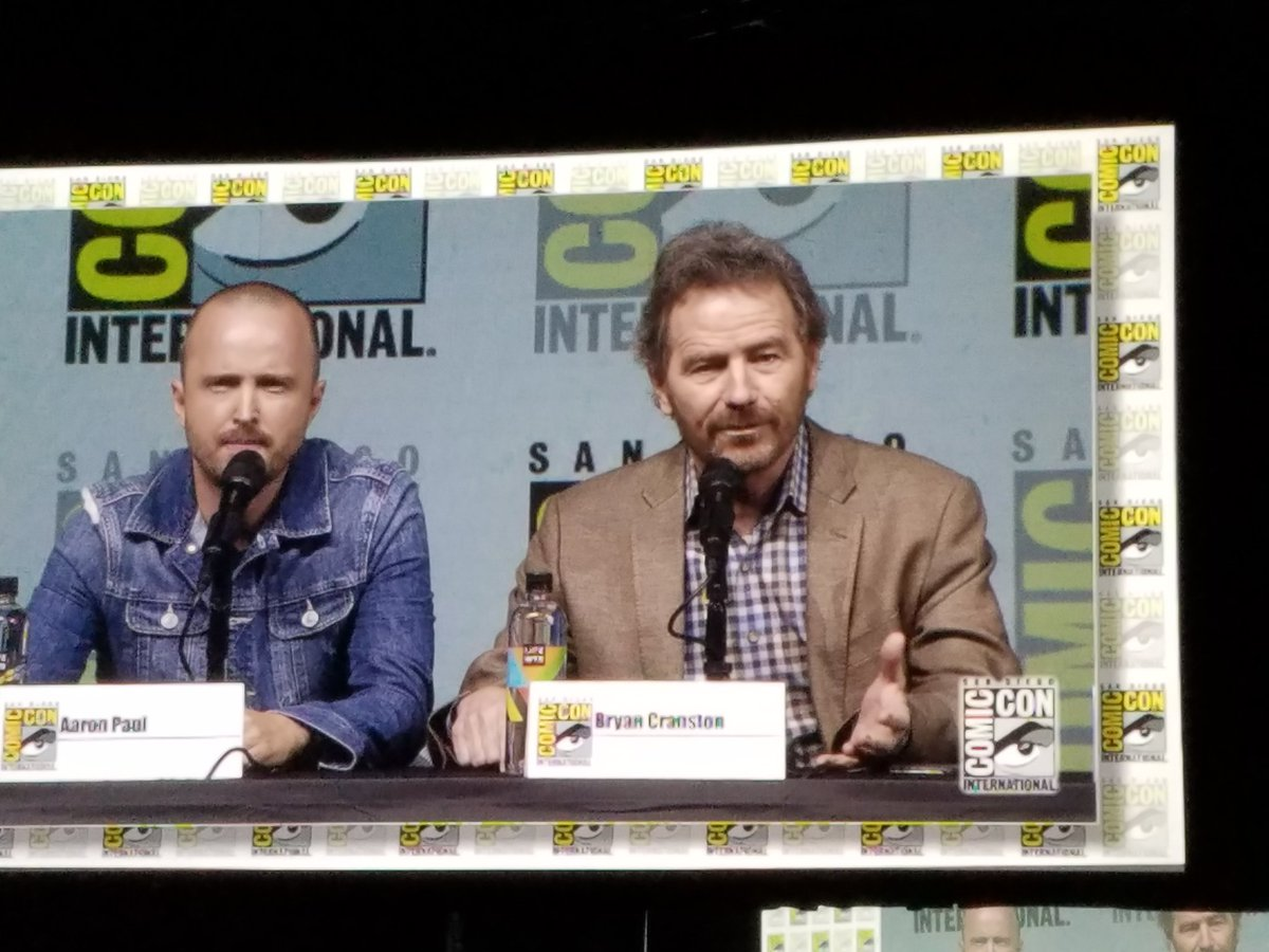 Now it's time for the #BreakingBad 10th Anniversary Reunion panel!! #HallH #SDCC #SDCC2018